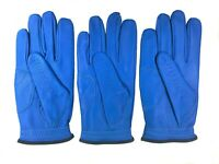 ***New***  (3) Mens All Cabretta Blue Leather Golf Gloves (Right Hand)