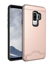 For Samsung Galaxy S9 / Plus Shockproof Card Slot Kickstand Phone Cover Case