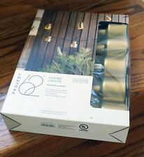 PROJECT 62 modern string lights (gold), set of 10, NEW