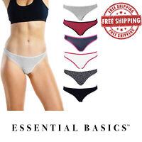 Women's Basic Underwear Thong | Cotton Panties | Lot of 3-10 | S, M, L, XL |