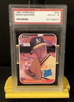 1987 Donruss Mark McGwire Rated Rookie Centered #46 PSA 8 Benefits Charity!❤️🌎