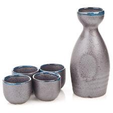 Charcoal Grey 5pce Japanese Sake Set