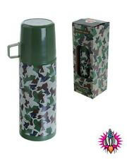 CAMPING RETRO STYLE STAINLESS STEEL 350ML VACUUM THERMOS DRINKS FLASK
