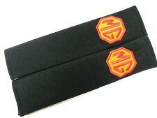 2 x MG Seat Belt Shoulder Cover Pads EMBROIDERED LOGO