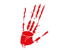 Bloody Hand Smear (Red Vinyl Cut Out - Bumper Sticker)