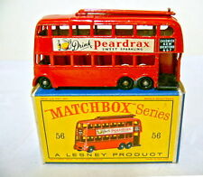"MATCHBOX RW 56a filobus ruote neri in ""D"" BOX"