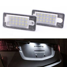 2Pcs 18SMD No Error LED Number License Plate Light for Audi A3 A4 A6 A8 Q7 RS4