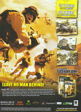 Black Hawk Down Delta Force Xbox 2005 Magazine Advert #615