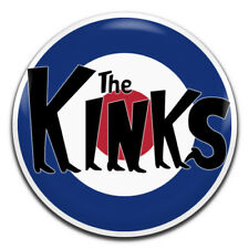 The Kinks Band 60's Mod Rock 25mm / 1 Inch D Pin Button Badge