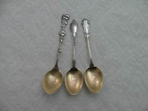ANTIQUE Sterling Silver demitasse Spoon