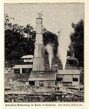 Petroleum-Bohranlage in Duala in Kamerun DOA 1906