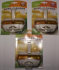 3 x TOILET BOWL CLEANER NEW Lemon Fresh scented bathroom - clip on rim job lot