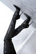 1969 crotch boots 43 13cm Sexy schwarz black fetish pointy spitz high heels