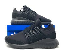 ADIDAS ORIGINALS TUBULAR RADIAL S80115  CORE BLACK MEN'S RUNNING SHOES SIZE 10