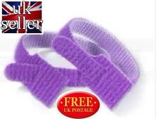 VELCRO® Brand ONE WRAP® 10 x20mm x 200mm Cable Tie PURPLE Double Sided Strapping