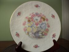 Vintage 1977 Collectible Bone China Valentine's Day Plate Royal Doulton England