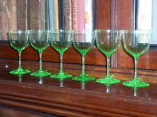 x-6 Delicate Uranium Green Liquer Glasses