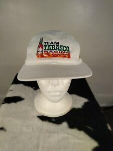 Vintage 90s Team Tabasco Racing Todd Bodine #35 White Snapback Hat