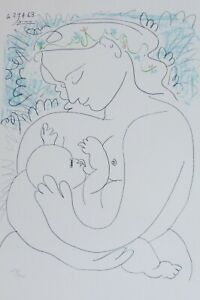 """PABLO PICASSO """"Maternite"""" Maternity SIGNED HAND NUMBERED 230/1000 LITHOGRAPH"""