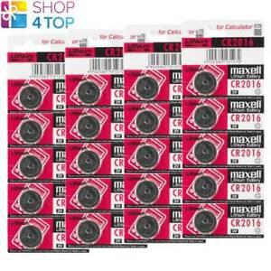 20 MAXELL CR2016 LITHIUM BATTERIES 3V COIN CELL DL2016 ECR2016 EXP 2023 NEW
