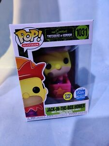 IN HAND! Funko POP! Homer Jack-In-The-Box Simpsons Glow In The Dark Funkoween