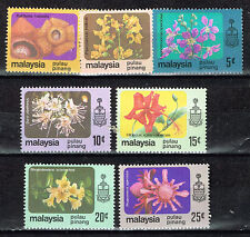 Malaysia Pulau Pinang Tropical Flowers Orchids set 1969 MLH