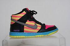 Nike ID Dunk Call Me Fresh 10' Sneaker Multi Neon Pink Women 6.5 Yellow Hip Teal