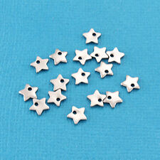 10 Stainless Steel Star Pendants - Charms - Chain Drops - MT216