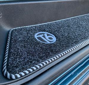Volkswagen VW Transporter T6 + Logo Cab Step Mats + Sliding Door Mat Anthracite
