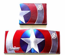 Mens Bifold Wallet Boys Gents Marvel Avengers Captain America Credit Cards id