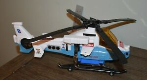Tonka Rescue Helicopter From 2003 blue and white chopper sounds lights vintage