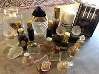 Vintage Perfume Bottles Large Lot 27 NEW USED BOUCHERON GIVENCHY TRESOR YSL ...