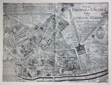 Reproduction - PLAN DE LA PAROISSE DE ST. SULPICE DE PARIS - by Baudrand in 1696