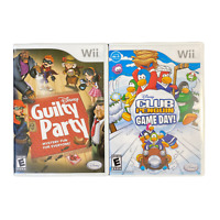 Nintendo Wii Bundle Disney Guilty Party and Club Penguin Game Day