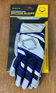 EvoShield 2.0 Speed Stripe Adult Protective Batting Gloves *Medium* Navy/White