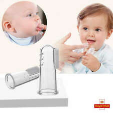 2PCS Baby Silicone Finger Toothbrush Box Soft Safe For Kids Teether T~GQ