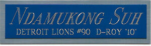 ndamukong SUH LIONS NAMEPLATE FO AUTOGRAPHED Signed Football HELMET JERSEY PHOTO
