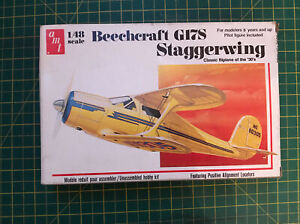Amt 1/48 Beechcraft G17S Staggerwing Model Kit Rare