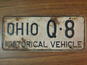 1955 Ohio HISTORICAL VEHICLE License Plate Tag Original