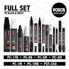 posca noir et blanc Lot de 14 stylos PC-17K PC-8K PC-5M PC-3M PC-1M PC-1MR