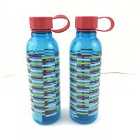 Starbucks Water Bottle Lot of Two Blue Teal 25 Ounces Reusable Twist Cap Closure