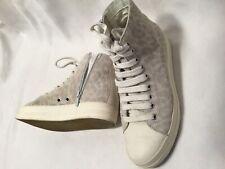 GEOX Damen sneaker Gr 37 Hoch Beige Creme Hell Schuhe Gepflegter Zustand