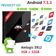 H96 Pro+ Plus Android 7.1 TV Box 3GB+32GB Octa Core 4K HD 2.4G/5GHz Dual WIFI