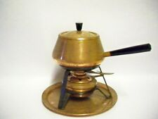 Retro  Copper Fondue set with Burner SPRING, Switzerland