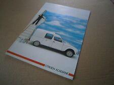 Catalogue auto  pub prospectus brochure: Citroën Acadiane