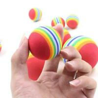 Rainbow Ball Training Practice Chew Toys Dog Cat Fetch Balls Catch New