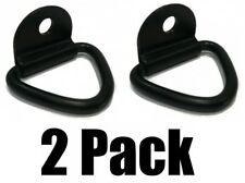 "(2) 1/4"" STEEL D RING TRUCK TRAILER TIE DOWN ATV Motorcycle Camper Rope Chain"