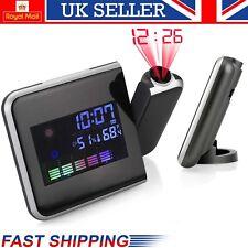 """Tiempo de Reloj de Proyección LED 3.7"""" pantalla LCD termómetro calendario alarma Si"""