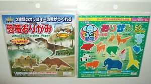 Daiso Japan Origami ANIMALS/DINASOUR 2 Sets Origami Paper New CHECK PICTURES