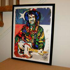 Waylon Jennings, Country Music Singer, Guitar, Mandolin, 18x24 POSTER w/COA 1